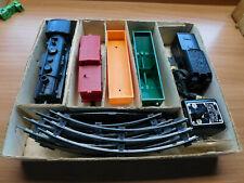 VINTAGE MARX STEAM TYPE ELECTRIC TRAIN SET MODEL 4040 ENGINE CARS TRACK BOX