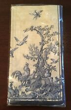 Ideal Home Range Blue French Country Toile Guest Towels / Napkins - NEW