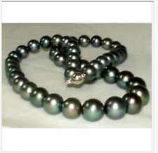 18inch 12-14mm Tahitian Black Pearl Necklace 14k