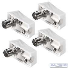 2 x Koax Stecker 2x Koaxial Kupplung Winkel Antennenstecker IEC TV DVB Kabel Set
