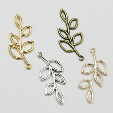 Lot 10-100pcs Fashion Tree Leaf Charm pendant Branches Connector Jewelry Finding