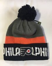 Philadelphia Flyers Knit Beanie Toque Winter Hat NEW Fashion Color Cuffed Pom