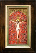 The Crucifixion Jesus Christ-original painting-FRAMED-Diana Mendoza-COA