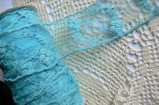 Mixed Lace - BLUE TEAL - 5 Varieties 3 Metre Lengths Webster Polyester MultiList