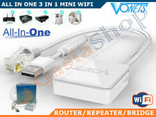 ALL IN ONE 3 IN 1 MINI WIFI ROUTER REAPETER BRIDGE VONETS VAR11N300