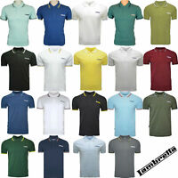 Lambretta Cotton Polo Shirt Twin Tipped Collar Mens T-Shirt Soft SS1608 UK S-4XL