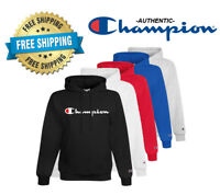 Champion Mens Classic Script Logo ECO Hoodie---Brand New---S-2XL