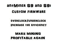 antMiner S9 Custom Firmware v7, No fan check (NO FEES) | eBay