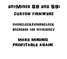 antMiner S9 Custom Firmware v7, NO fan check (NO FEES)