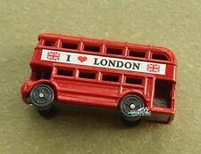 United Kingdom London Double Decker Bus Souvenir Metal Fridge Magnet Craft