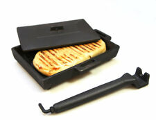 Cast Iron Sandwich Toaster Toasting Press for Wood Burning Multi Fuel Stoves