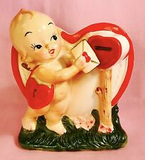 HAPPY VALENTINES DAY! Cute Kewpie Angel Cupid Vintage Relpo Planter Estate Sale