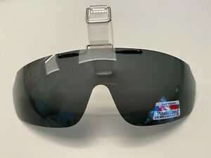 Polarized Glare Blockin Cap/Visor Clip-On Glasses