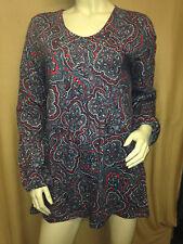 Damen Pullover Langarmshirt tolles Muster rot grau Gr. 42 von Cheer