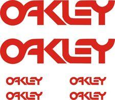 6 PEGATINAS OAKLEY - STICKERS - VINILO - Aufkleber - PACK- SPONSOR - AUTOCOLLANT