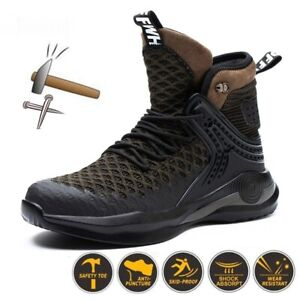 Safety Boots Light Comfortable Steel Toe Cap Anti-piercing Outdoor Work Shoes
