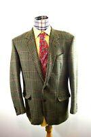 Charles Jourdan Mens Wool Hipster Plaid Blanket Jacket Italy Sport Coat 40R