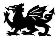 Large Steel Welsh Dragon Weathervane or Sign Profile - Laser cut