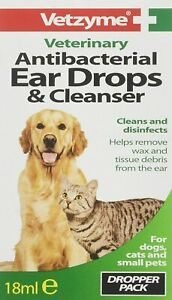 Vetzyme Antibacterial Ear Drops Cleanser 18Ml Helps Clean Disinfect High Quality