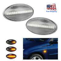 Clear Lens Side Markers Turn Signal Amber LED Light For MINI Cooper R50 R52 R53