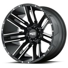 20 Inch Black Wheels Rims Chevy Dodge Ford Truck 8 Lug Moto Metal MO978 20x10""