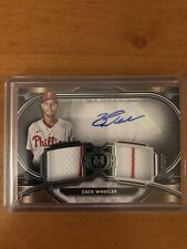 Zack Wheeler 2021 Topps Museum Collection Dual Relic Auto #'d /249 Phillies