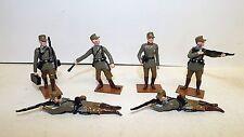 FUSILIER Miniatures tedesco seconda guerra mondiale azione Set 6 X cifre (bs622)