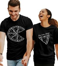 Valentinstag Pizza Partner T-Shirt Set | Partner Look | Beziehung | Couple | BFF