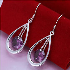 Unbranded Silver Plated Crystal Stone Costume Earrings