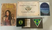Firefly Serenity, Zoe Lot of New Coin, Certif, Decal, Patch, Signal, Loot Crate
