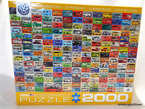 """Volkswagen Bus The VW Groovy Bus 26"""" x 38"""" 2000 Piece Puzzle NEW"""