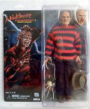 "FREDDY KRUEGER Nightmare on Elm Street Part 2 Retro Clothed 8"" Figure Neca 2015"