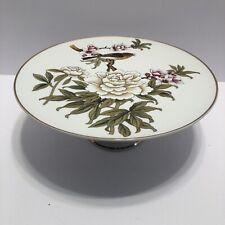 Shafford Chinese Garden Footed Cake Plate Stand Bird & Flowers Original Design