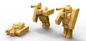 Tank Wooden Transformer - Robot, Change, Transform, Vehicle Toy