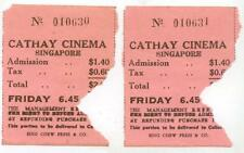 c1950 Singapore Cathay Cinema tickets