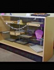 Glass Wood Black Showcase Display Case Store Fixture Fully Assembled Sc Sc6bk