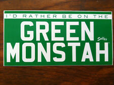 Red Sox baseball sticker I'd Rather Be on the Green Monstah