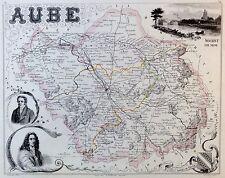 AUBE - grenzkolorierter Kupferstich - ca. 1840 - Isidore - Ales - (08
