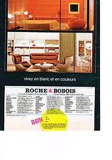 PUBLICITE  1969   ROCHE & BOBOIS   vivez en blanc & en couleurs meubles