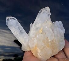 Ghost Phantom Candle Quartz Crystal Cluster from Madagascar