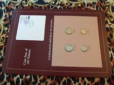 Coin Sets of All Nations Guyana w/card 1985 - 1986 UNC purple stamp 10 cent 1986