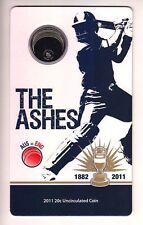 2011 Australia Ashes Cricket Series 20c Uncirculated Coin