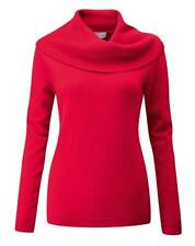 Pure Collection Cashmere Cowl Neck Sweater - Rich Red - UK Size 16 RRP £170