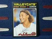 2020 Topps Heritage Minor League #158 Jirdan Brewer - Valleycats