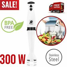 Immersion Hand Blender 2 Speed Electric Mixer Hand Held Chopper 300W