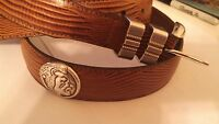 Men's Florida State University Brown Leather Belt with Conchos Size 32 R
