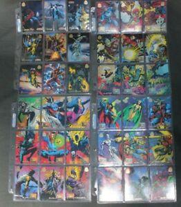 1994 Marvel Universe Series Trading Cards NEAR COMPLETE BASE SET Fleer Power