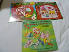 VINTAGE STRAWBERRY SHORTCAKE RECORD LOT EXERCISE CHRISTMAS ALBUM KID STUFF 1980S