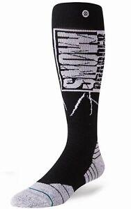 STANCE Snowboarder Mag Black White Ski Snowboard Socks Mens M Fits 6-8.5  L 9-12