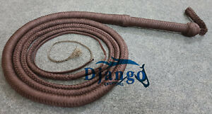 10 Feet Long 12 Plaits Paracord Nylon Heavy Duty Custom Bullwhip Training whip